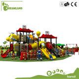La cour de jeu extérieure en plastique de gosses glisse l'amusement à vendre les cours de jeu extérieures pour des gosses