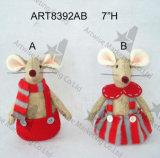 """"""" garçon de cadeau de décoration de souris de Noël de H 12 et Girl-2asst."""