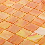 Mozaïek van het Gebrandschilderd glas van de Producten van de Vierkanten van de Tegel van het Mozaïek van de Vloer van het milieu het Materiële