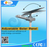 Luz de rua solar Integrated para a lâmpada do diodo emissor de luz 50W com bateria de Li