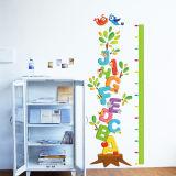壁のステッカーのステッカーの壁紙の成長の高さの図表の定規の測定は壁の装飾のために育つ
