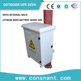 Al aire libre Fuente de alimentación: montaje en rack de UPS en línea con la batería de litio-hierro