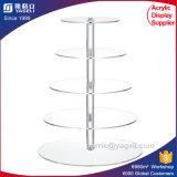 Porte-affiche en acier inoxydable blanc à 4 niveaux Acrylique