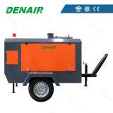 Compresor de aire móvil accionado por el motor diesel operacional fácil del tornillo