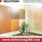 Matière composite en aluminium de Willstrong dans la texture balayée, en bois, en pierre avec le procédé profond pour la façade