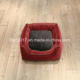Sofà delle basi del cane del gatto del rifornimento dell'animale domestico del sofà della base dell'animale domestico del quadrato rosso con l'ammortizzatore smontabile