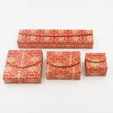 Rectángulo de empaquetado del nuevo del estilo regalo del papel revestido para la joyería (J22-E2)