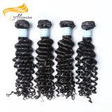 100人間の毛髪の自然なバージンのインドの自然なカーリーヘアー