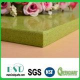 Pedra artificial de quartzo da luz das estrelas verde