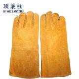 Guantes de soldadura a prueba de calor reforzados cuero largo para los soldadores