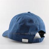 Boné de beisebol/chapéu de linho em branco lisos com logotipo do emblema do metal