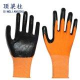 Nitril überzogener Zebra-Streifen Arbeitssicherheits-Handschuhe mit Cer