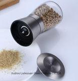 Smerigliatrice manuale del sale e di pepe del cappello dell'acciaio inossidabile 304