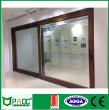 Elevación de aluminio y puerta deslizante con el vidrio hueco doble