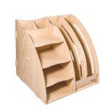 Отделяемый Desktop устроитель D9113 деревянной доски DIY коробки хранения