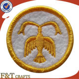 Round simples Custom Design Logo Embroidery Patch para Garment (FTPT2305A)