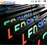 택시 Top LED Moving Message Sign Board Play Advertisement