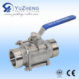3PC Stainless Steel Ball Valve com Clamp Extremidade