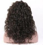 Perruques de face de lacet de cheveu péruvien suisse de lacet dans bouclé normal