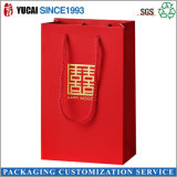 Bolsas chinas bolsa de papel rojo del regalo