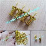 Новое золото 23mm покрыло сформированный ручкой Pin нажима карты (P151228B)