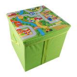 El almacenaje de múltiples funciones plegable de la estera del juego del cuidado del bebé sienta la caja