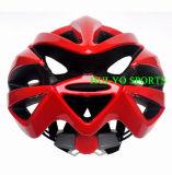 Casque de vélo rouge, casque de vélo élégant, grand casque de route de trou
