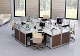 Sitio de trabajo redondo de Frameless de la oficina de los asientos de cristal modernos de la tapa 3 (SZ-WS244)