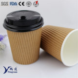 Desechable corrugado Genérico pared de aislamiento del café taza de papel