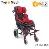 Topmedi Aluminium-stützender hoher rückseitiger zerebrale Lähmung-Kind-Rollstuhl
