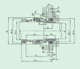 Selo mecânico de bomba de água para a única extremidade (HB7)