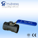 Wcb 1PC Ball Valve met NPT, BSPT, BSPP Screw