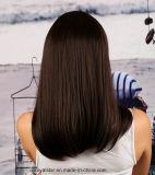 자연적인 색깔 Remy 똑바른 Mop 머리 가득 차있는 레이스 가발