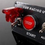 Comitato 5 dell'interruttore di accensione di CC 12V in 1 cambio di stato di funzionamento del pulsante LED di inizio del motore di automobile per la vettura da corsa