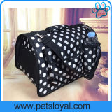 Portador luxuoso do gato do filhote de cachorro do saco do cão do produto da fonte do animal de estimação do fabricante