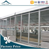 Do comércio impermeável do telhado da extensão da longa vida barraca modular do anúncio publicitário da parede de vidro