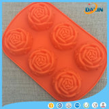 Rose Shape Food Grade Gâteau en silicone Moule au chocolat