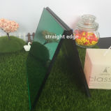 4mm Medium Square Green Glass Mirror Candle Holder