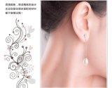 형식 민물 긴 진주 귀걸이 8-9mm AAA 전통적인 자연적인 민물 진주 귀걸이를 매단다