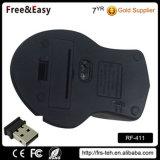 까만 4D 코드가 없는 무선 USB 광학 마우스