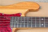 Guitare basse électrique de musique de Hanhai/5 chaînes de caractères avec le corps de cendre
