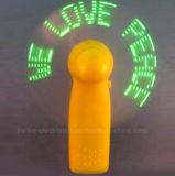 Estate promozionale mini ventilatore del messaggio del LED con logo stampato (3509)