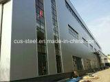 Magazzino prefabbricato della struttura d'acciaio dell'ampia luce del gruppo di lavoro di disegno d'acciaio chiaro della costruzione