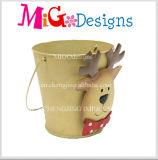 OEM обслуживает творческий цветочный горшок металла плюшевого медвежонка