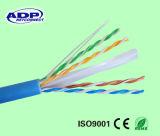 CAT6 4pr 23AWG découvrent l'essai de cuivre 305m de flet de passage de câbles de réseau câblé de réseau local de CCA