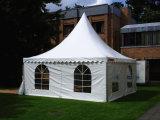 Напольный PVC 5X5m украсил шатер Pagoda с стеклянной дверью