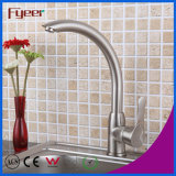 Fyeer Nickle Brushed 360 Rotatable Kitchen Sink Mixer Tap Faucet