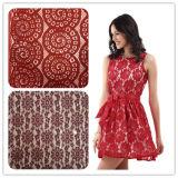 Tessuto elastico del merletto del Crochet 2016 per il vestito da cerimonia nuziale