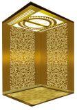 乗客のエレベーターの上昇の高品質の金ミラーはAksen Ty-K164をエッチングした