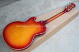 Música de Hanhai/guitarra Es-137 elétrica Semi-Oca Sunburst da cereja